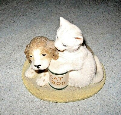 """Beswick Cat &Dog Studio Sculpture The Young Friends Series """"Menu for Today"""""""