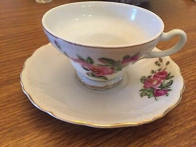 vintage floral tea cup and saucer Made In Japan