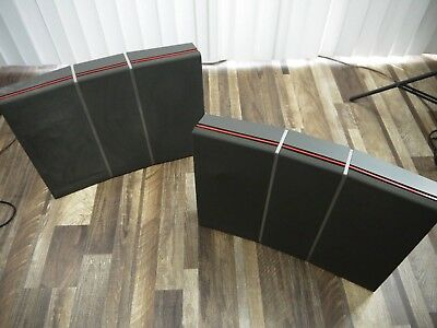 VINTAGE B&O Bang & Olufsen Red Line 60 TYPE 6503 Speakers PAIR Denmark for parts