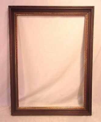 "LARGE antique victorian WALNUT frame 25 3/4 x 33 3/4 holds 22x30 molding 2""."
