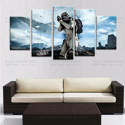 HD Print 5 Piece Star Wars Home Wall Decor Canvas Picture Art Painting On Canvas