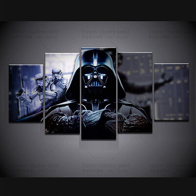 HD Canvas Print 5 Pieces Star Wars Picture Painting On Canvas For Home Decor