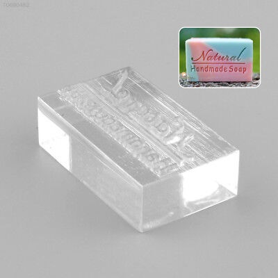 EFE9 Acrylic Rectangle Natural Word Handmade Soap Stamping Stamp Seal Mold Craft