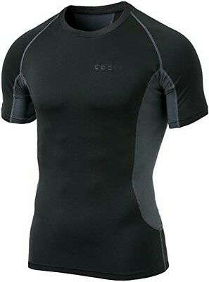 Tesla Mens Short Sleeve T-Shirt Cool Dry Compression Baselayer...FREE Shipping