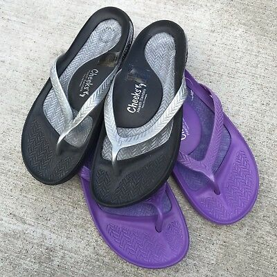 29d5ef9f48bbd CHEEKS — Tony Little Health Sandals Flats Flip Flops Shoes 2-Pack NEW! Size