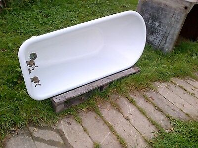 roll top enamel bath vintage antique