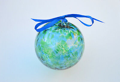 "10cm 4"" Friendship /Kugel / Witches Ball ""Blue and Green"""