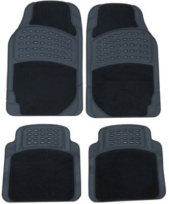 Toyota Yaris (2011-Date) Heavy Duty Rubber & Carpet Car Mats Set