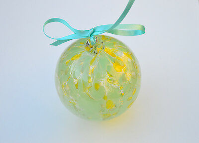 "10cm 4"" Friendship /Kugel / Witches Ball ""Lemon Mint"""