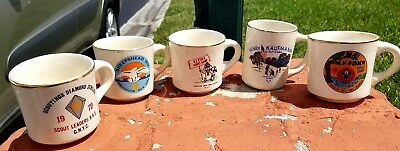 Vintage 1970's Boy Scout Coffee Mugs ~ 5 in very good condition