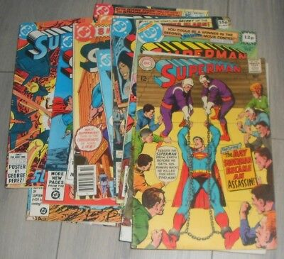 Lot Of 13 Superman Dc Comics , Silver Age To Modern