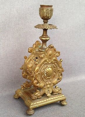 Big antique french candlestick chandelier made of bronze 19th century 4lb !