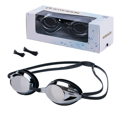 Professional Swim Goggles Anti Fog UV No Leaking Interchangeable Nose Bridge NEW
