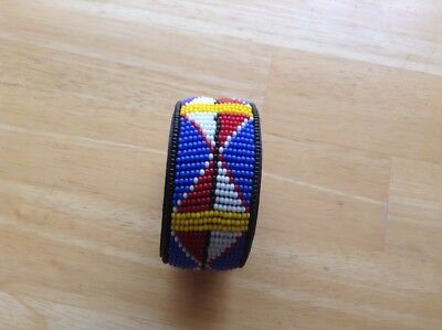 African-Arena Maasai Masai Beaded Handcrafted Leather Ethnic Bracelet AA559