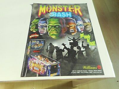 Flyer für Williams Flipper Pinball Monster Bash