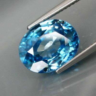 6.43Ct.Ravishing Color! Ultra Lustrous VS Natural BIG Blue Cambodian Zircon