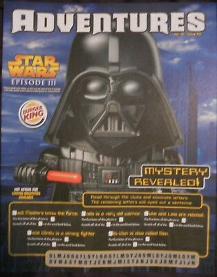 BURGER KING kids club ADVENTURES IRON STAR WARS QTY 3  RARE
