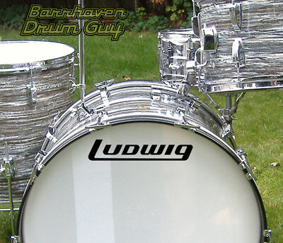 Ludwig, 70s #2, Vintage, Repro Logo - Adhesive Vinyl Decal, for Bass Drum Head