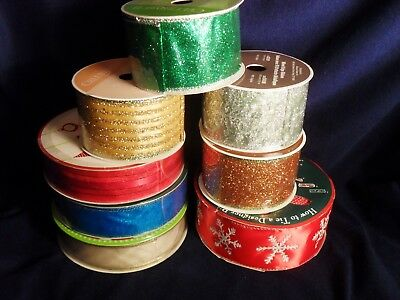 Wired Ribbon Festive Ass't 245 Yds. New