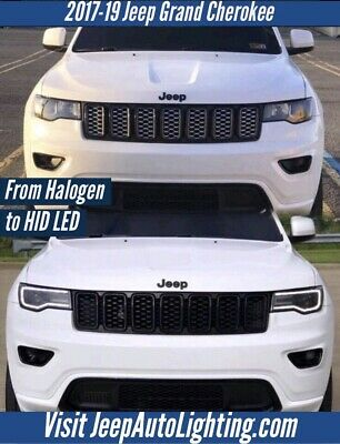 2014 2015 2016 2017 2018 2019 Jeep Grand Cherokee Harness Halogen To HID LED