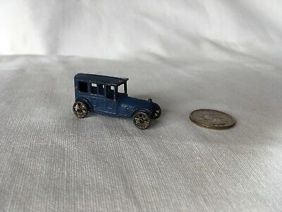 1 BLUE Rare Early First Tootsietoy 1911 Limousine Die-cast Mini toy car Antique