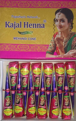 Organic Kajal Dark Brown Henna Bridal Mehndi Natural Cones Fresh Free Dispatchuk