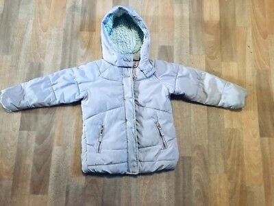2f14b7184f76 NEXT GIRLS PADDED Pink Winter Coat Jacket