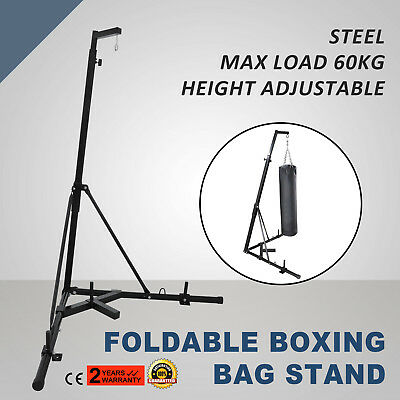 Foldable Boxing Bag Stand Multi Station Portable New Free Standing MMA Gym