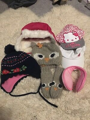 Cap Hat Winter Mitts BundleH M Ear Muffs Hello Kitty Mothercare 0-3 Years  Old 68a4635e8a86