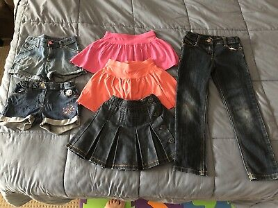 Target Girls Bulk Summer Size 6 Jeans Shorts Skirts Skorts Lot Bundle X6 Denim