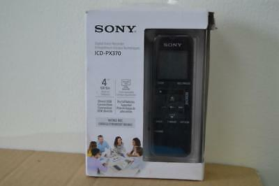 Sony ICD-PX370 4GB Mono MP3 Digital Voice Recorder with Built-in USB - Black-