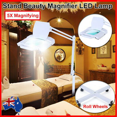 Stand 5XMagnifying LED Magnifier Lamp Light Skincare Beauty Nail Manicure Tattoo