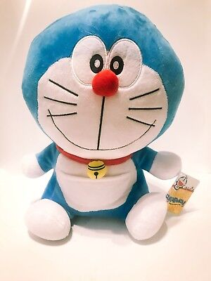 Doraemon Plush Stuffed Cat Anime Fujiko-Pro Smile Face 15""
