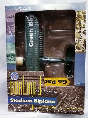 Ertl Green Bay Packers Goaline Classics Stadium Bi Plane Coin Bank 1997