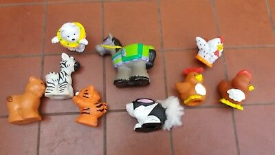 FISHER PRICE LITTLE PEOPLE ANIMALS x 9