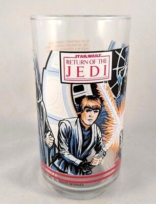 Star Wars Return of the Jedi 1983 Burger King Coca Cola Collectible Glass