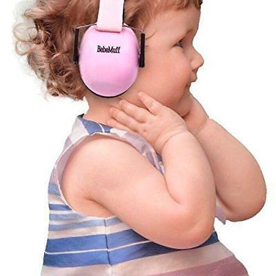 BEBE Muff Hearing Protection - BEST USA Certified Ear Muffs, 2 years+ (Pink)
