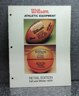 Wilson Retail Edition Fall and Winter 1978 Athletic Equipment Catalog