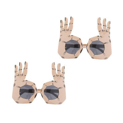 9c08ccfe9c6 2pcs Assorted Novelty Party Sunglasses Funny Eye Glasses Costume Photo Props