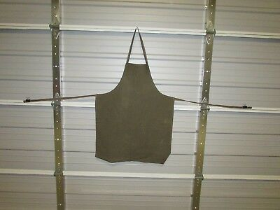 "NEW HEAVY DUTY COTTON WORK APRON, 33"" x 25"", NORTH CREEK BROWN (O)"