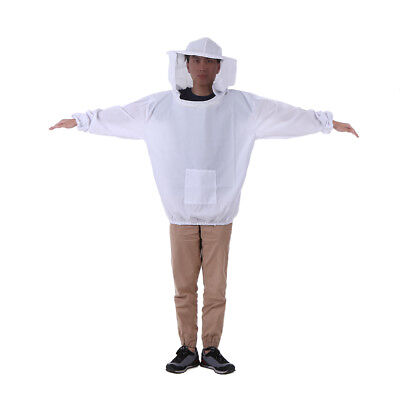 White Beekeeping Jacket Veil Maillot d'apiculture Maillot Maillot de H0N2