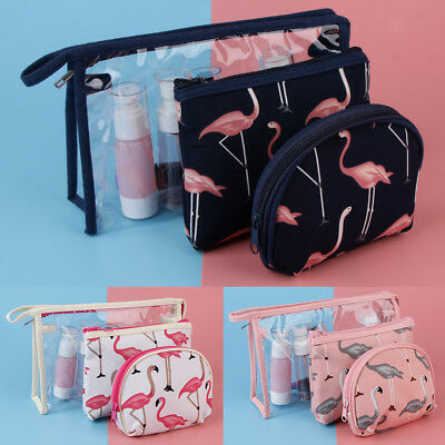 3Pcs/Set Cosmetic Makeup Toiletry Clear PVC Organizer Travel Wash Bag Holder
