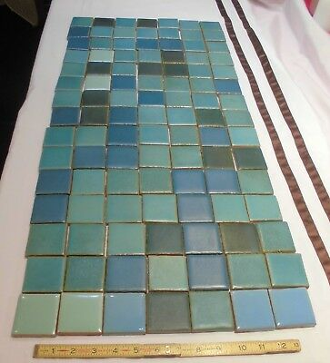 "105 pcs.  Vintage Red Clay Ceramic Tiles...in Appealing Colors...2"" X 2"" X 3/8"""