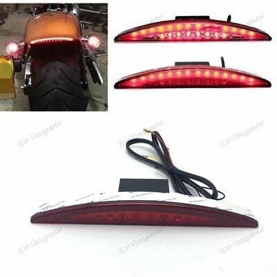 Red Rear Fender Tip LED Brake Tail Light For Harley Dyna Fat Bob CVO FXDFSE2 TP