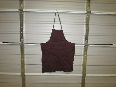 "NEW HEAVY DUTY COTTON WORK APRON, 33"" x 25"", CARMINE (A)"