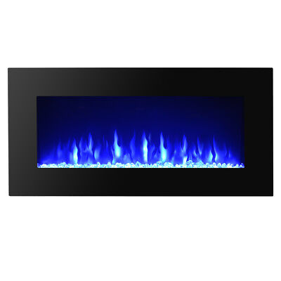 """High Quality 36"""" Wall Mount Electric Fireplace MultiColor LED Backlight"""