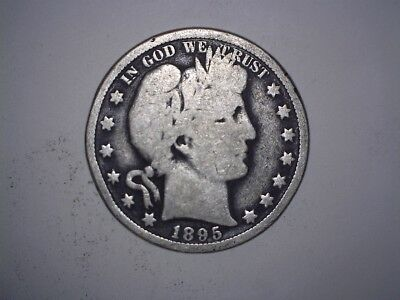 X  Old Rare 1895 New Orleans Mint Better Date Barber Silver Half Dollar Coin