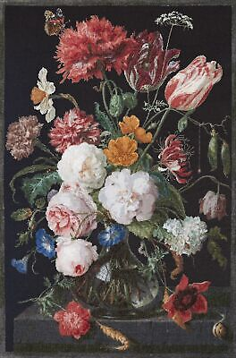 "Thea Gouverneur Counted Cross Stitch Kit 41.5""X27.5""-Still Life W/Flowers On Aid"
