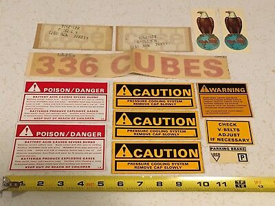 Lot of 1970s VTG NOS CASE Tractor Decal Sticker Eagle Caution Danger Advertising