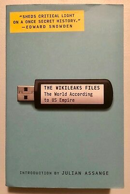 Julian Assange Rare In-Person Signed THE WIKILEAKS FILES Book